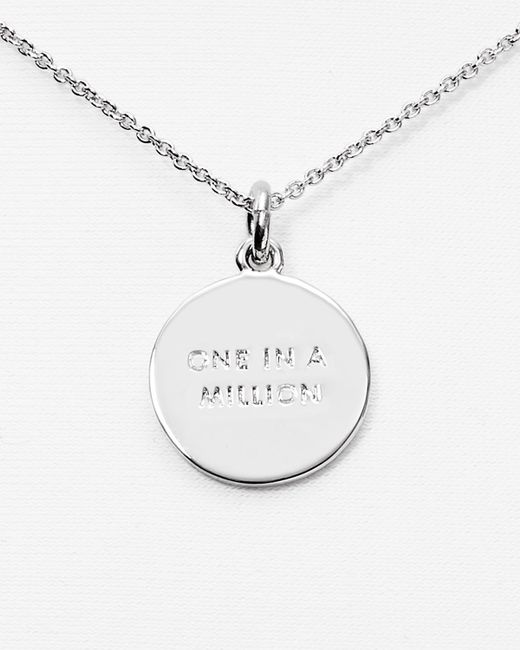 """Kate Spade   Metallic One In A Million Initial Pendant Necklace, 18""""   Lyst"""