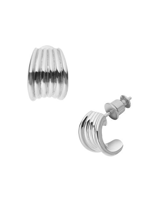 Skagen | Metallic Classic Silver Steel Earrings | Lyst