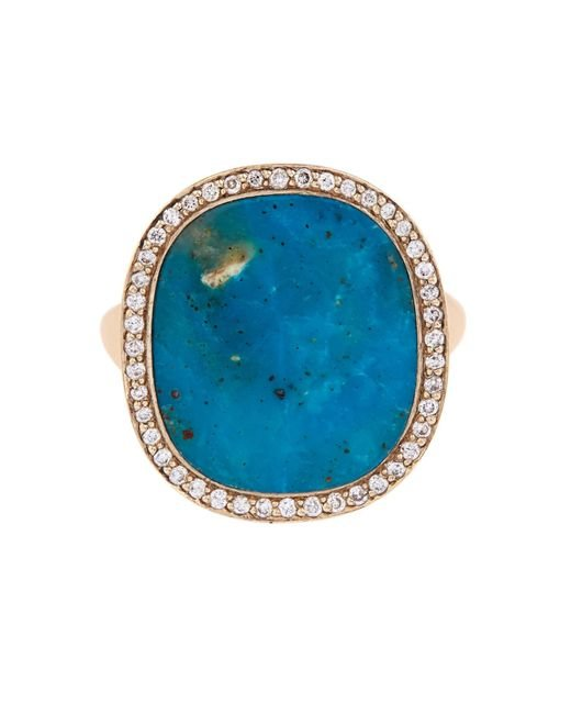 Monique Péan | Blue Diamond, Opalina & White-Gold Ring | Lyst
