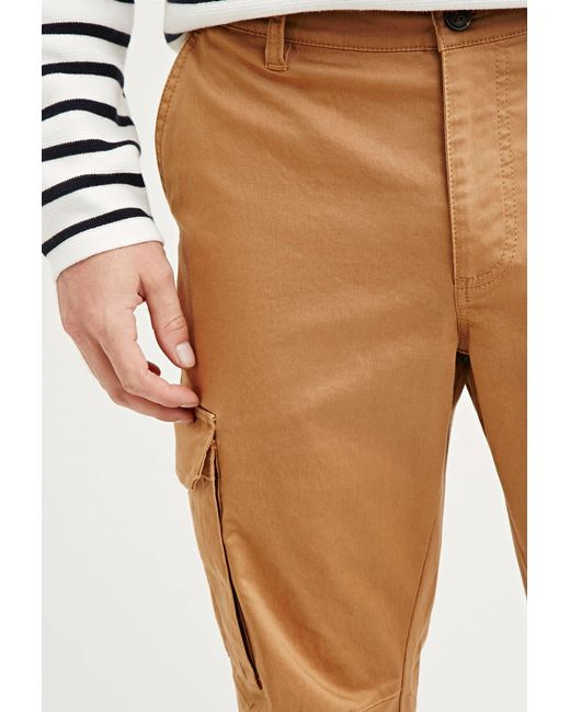 Forever 21 | Natural Cotton-blend Cargo Pants for Men | Lyst