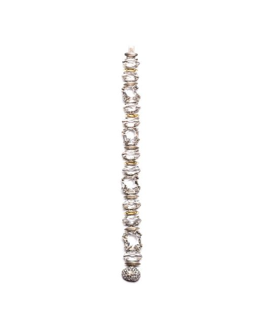 Alexis Bittar | Metallic Silver Gaze Marquis Tennis Bracelet With 18k Gold Marquis You Might Also Like | Lyst