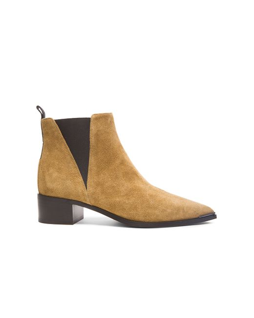 Acne | Brown 'jensen' Pointy Toe Bootie | Lyst