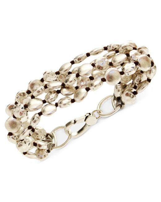 Lucky Brand   Metallic Bracelet, Silver-tone Coin Bracelet   Lyst
