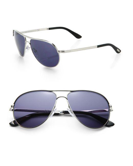 Tom Ford Marko 58mm Aviator Sunglasses In Metallic For Men