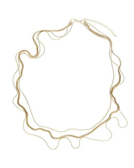 John Lewis | Metallic 3-row Layered Long Necklace | Lyst