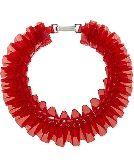 Mary Katrantzou | Red Pvc Ruffle Collar Necklace | Lyst
