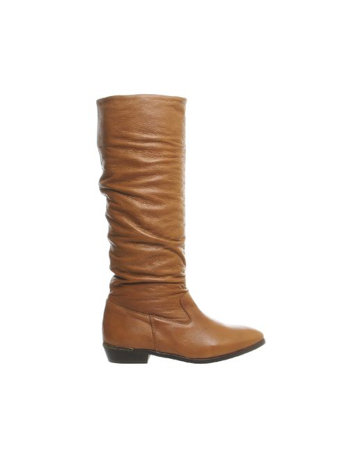 Office | Brown Eliza Casual Slouch Knee Boots | Lyst