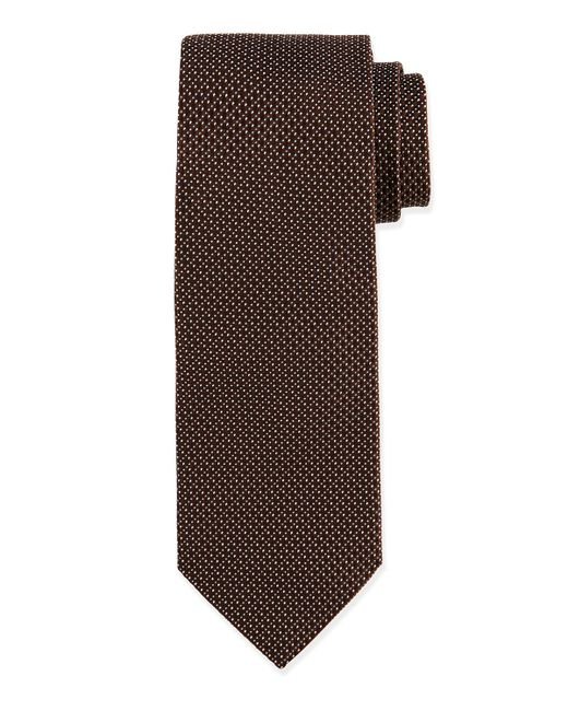 Ike Behar | Brown Chevron Silk Tie for Men | Lyst