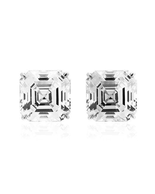 Carat*   Metallic Asscher Stud Earrings   Lyst