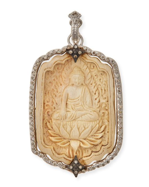 Armenta | Metallic New World Champagne Diamond Buddha Pendant | Lyst