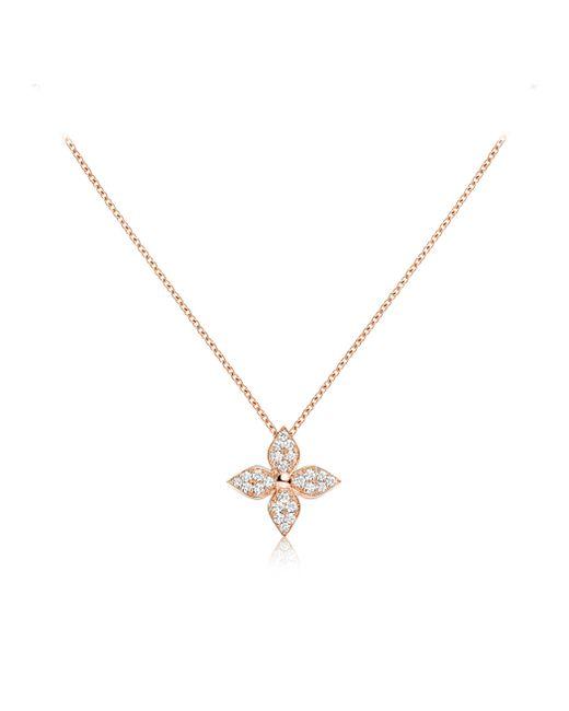 Louis Vuitton | Diamond Blossom Pendant, Pink Gold And Diamonds | Lyst
