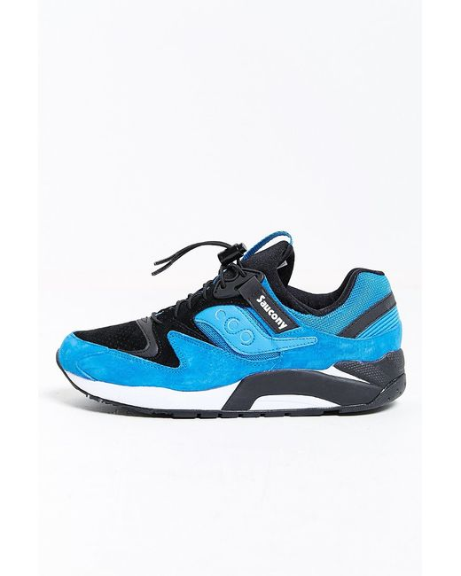 Saucony | Blue Grid 9000 Bungee Pack Sneaker for Men | Lyst
