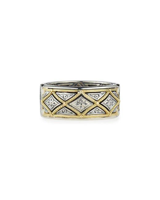 Konstantino   Metallic Classic Diamond-pattern Band Ring for Men   Lyst