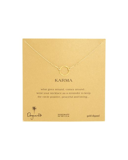 Dogeared | Metallic Karma Necklace 16 Inch | Lyst