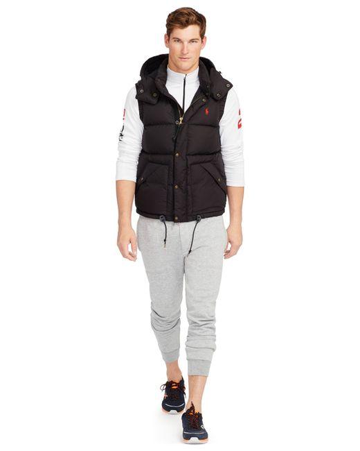 Polo Ralph Lauren | Black Elmwood Down-feathers Vest for Men | Lyst