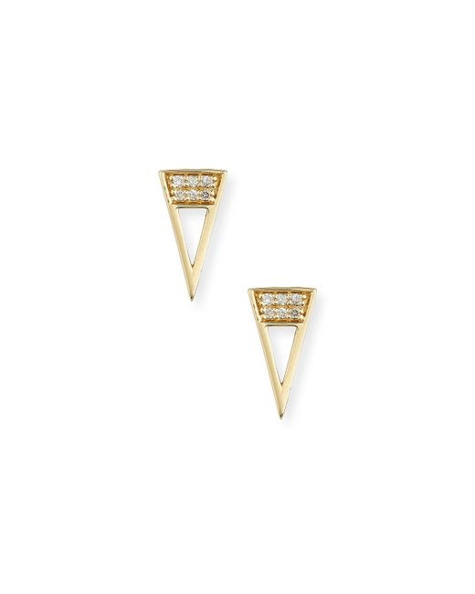 Sydney Evan | Metallic 14k Diamond Open Stud Single Earrings | Lyst