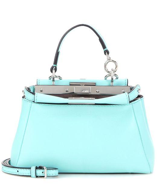 Fendi | Pink 'micro Peekaboo' Nappa Leather Bag | Lyst