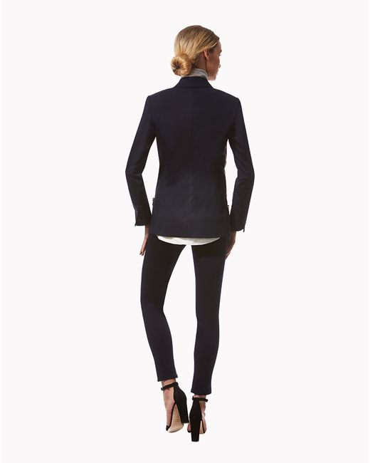 Veronica Beard | Blue Denim Skinny Cropped Pant | Lyst