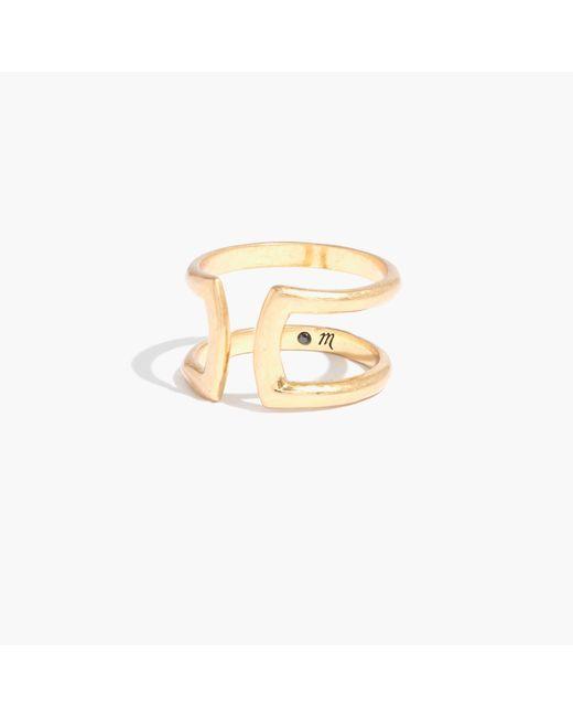 Madewell | Metallic Double Ring | Lyst