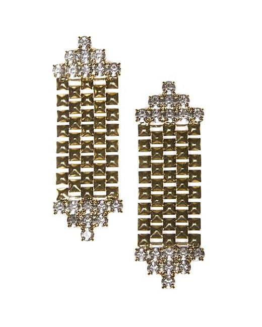 Nicole Romano | Metallic Cleo Earrings | Lyst