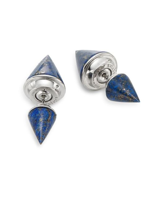 Vita Fede | Metallic Classic Double Titan Lapis Earrings/silvertone | Lyst