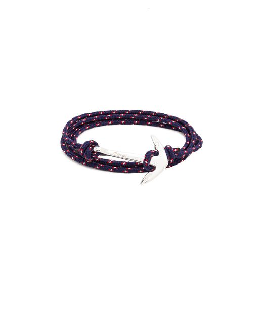 Miansai | Blue Silver Anchor On Rope | Lyst