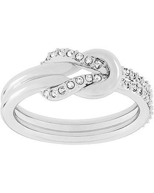 Swarovski | Metallic Voile Ring | Lyst