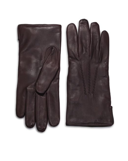 Saks Fifth Avenue | Brown Leather Gloves for Men | Lyst