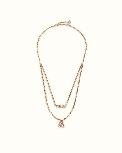 Fendi | White Crystal Necklace Crystal Necklace | Lyst