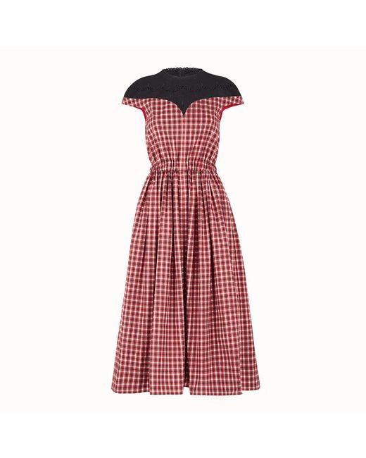 Fendi - Red Dress - Lyst