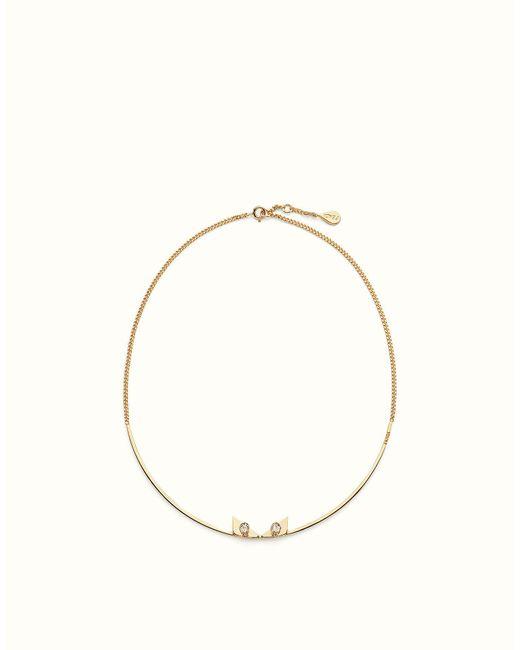 Fendi   Black Crystal Wonders Necklace Crystal Wonders Necklace   Lyst