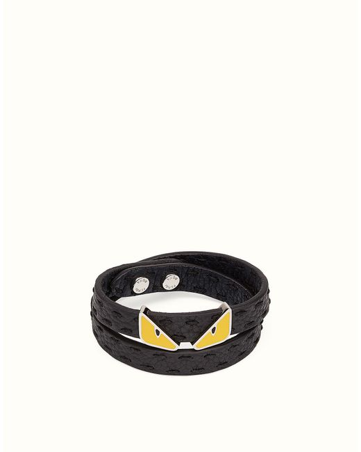 Fendi | Black Double Tour Bracelet Double Tour Bracelet for Men | Lyst