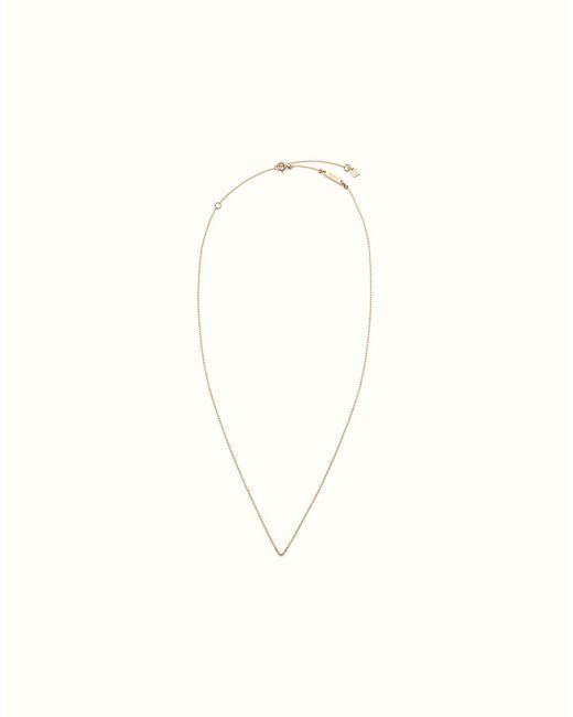 Fendi | Metallic Necklace Necklace | Lyst