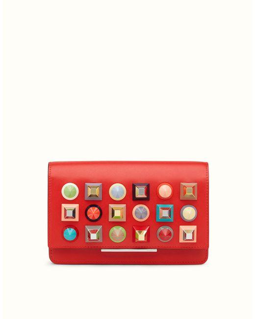 Fendi | Red Wallet On Chain Wallet On Chain | Lyst