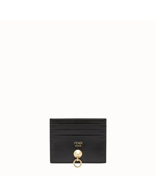 Fendi - Black Card Holder Card Holder - Lyst