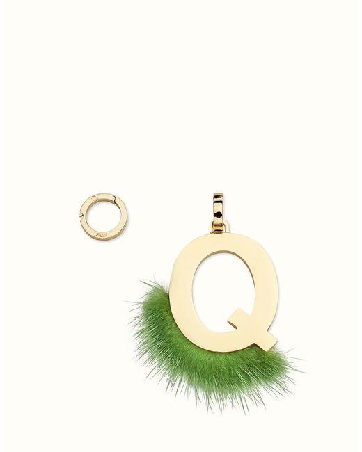 Fendi - Green Abclick Q Pendant Charm - Lyst