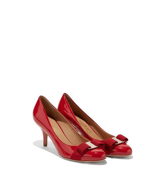 91598d9d8638 Ferragamo - Red Vara Bow Pump Shoe - Lyst ...