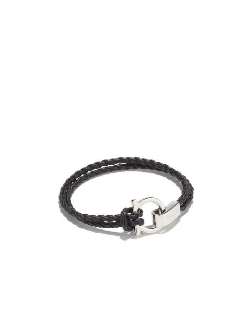 Ferragamo | Metallic Double Wrap Bracelet With Gancio Hook Closure for Men | Lyst