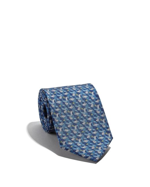 Ferragamo - Blue Rabbit And Grass Printed Tie for Men - Lyst