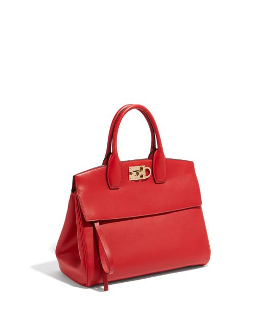 Ferragamo - Red Small Studio Bag - Lyst