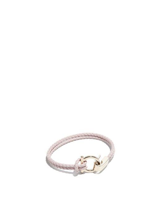 Ferragamo - Multicolor Gancini Braid Bracelet - Lyst