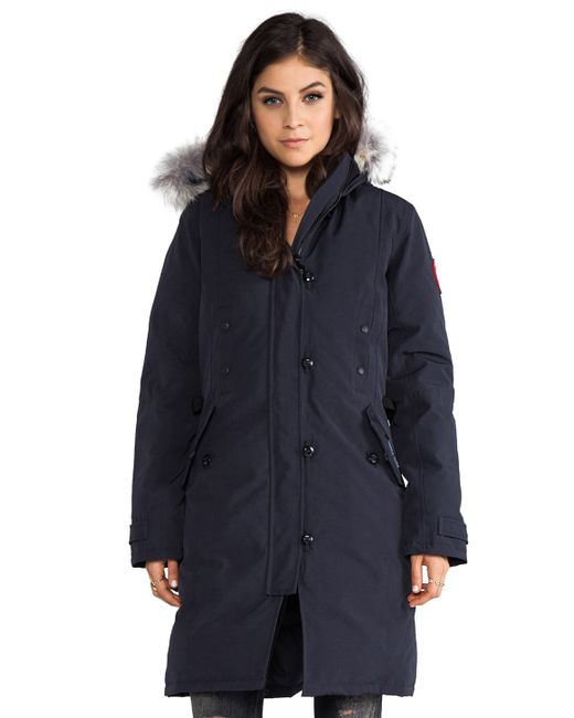 Canada Goose | Blue Kensington Parka With Coyote Fur Trim | Lyst
