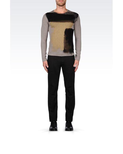 Emporio Armani | Gray Sweater for Men | Lyst