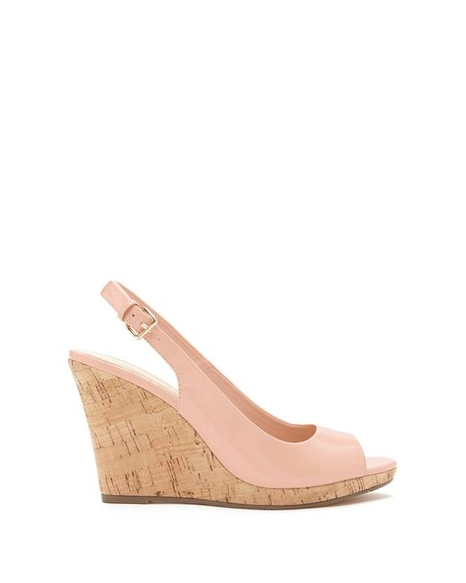 forever 21 faux patent leather wedges in pink light pink
