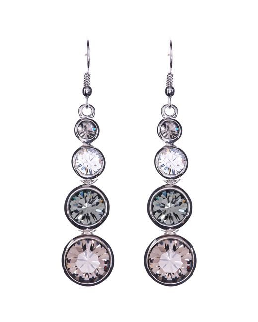 Karen Millen | Pink Swarovski Teardrop Earrings | Lyst