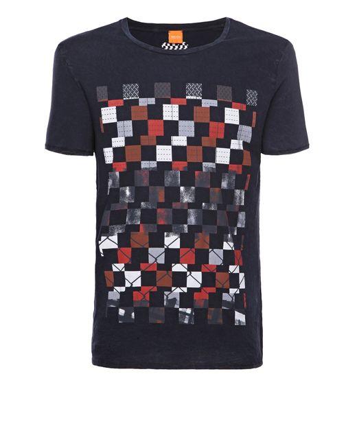 BOSS Orange | Blue T-shirt 'tiberion' In Cotton for Men | Lyst