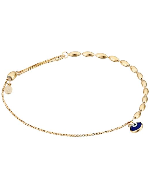 ALEX AND ANI | Metallic Evil Eye Fancy Bead Pull Chain Bracelet | Lyst