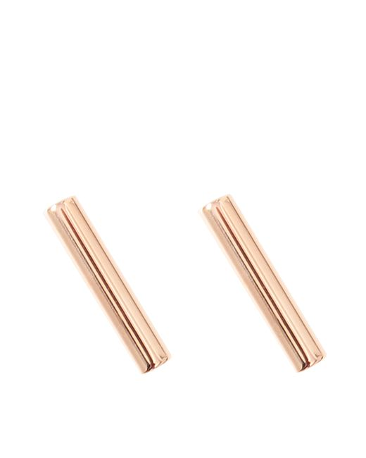 Ginette NY | Metallic Gold Strip Earrings | Lyst