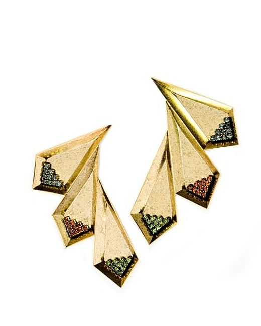 Nicole Romano | Metallic Ruolan Earrings | Lyst