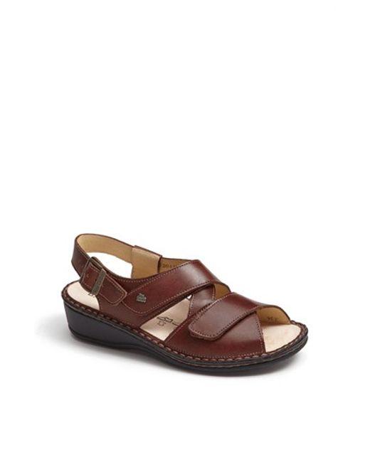 Finn Comfort | Brown 'jersey' Sandal | Lyst